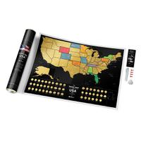 Карта travel map usa black, 1DEA.me